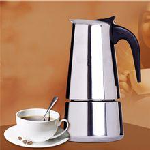 Alta calidad 100 / 200 / 300 ml acero inoxidable italiano cafetera expreso cocina hervidor de goteo té cafetera Moka de café café Extractor(China (Mainland))