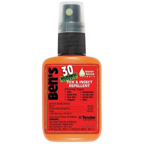 30% Deet...not super cancer friendly...but there won't be 'skeeters for MILES around    Adventure Medical Kits-: Ben's 30% Deet Insect Repellant: 1.25Oz Spray: Amazon.ca: Sports & Outdoors