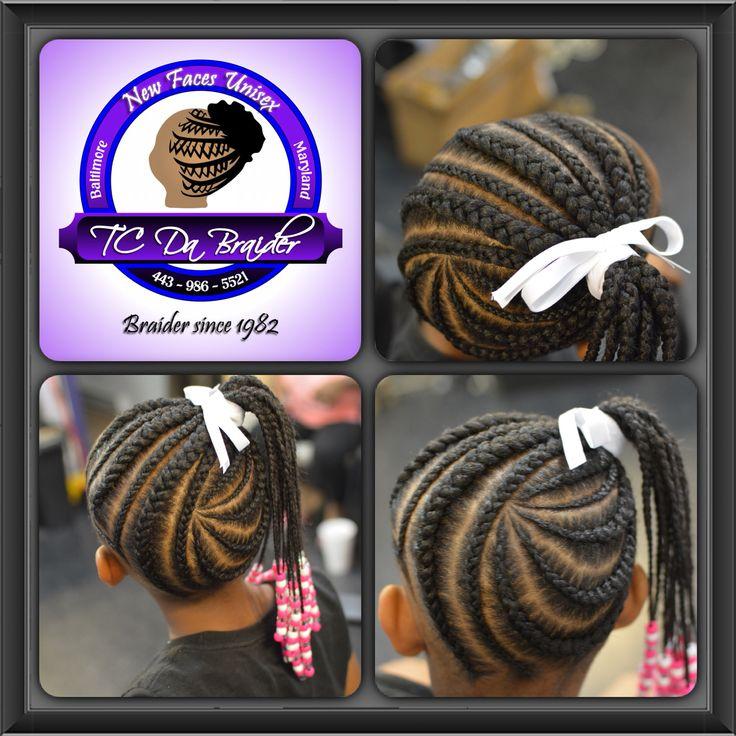 Braided ponytailfeeder braids | Little girls braids
