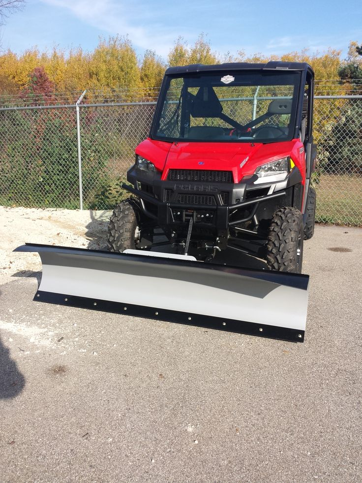"""Polaris Ranger 900 XP with KFI 72"""": Snow Plow and KFI 4500# stealth winch."""