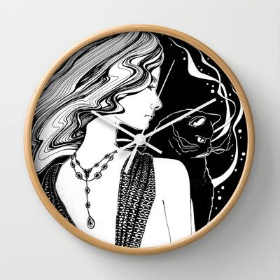 Go Black Wall Clock by ioanazdralea - $30.00