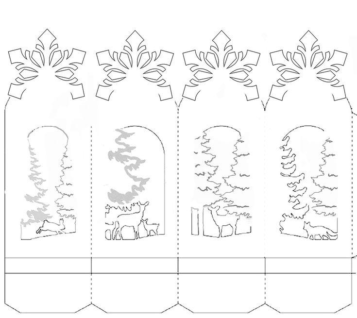 Киригами открытки снежинка