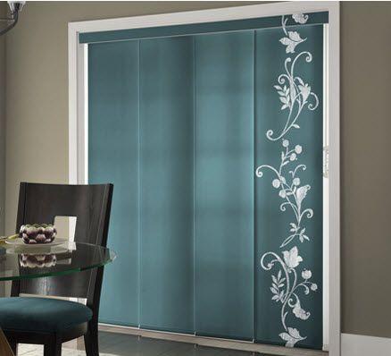 custom printed sliding panel tracks by comfortex sliding door blindspatio