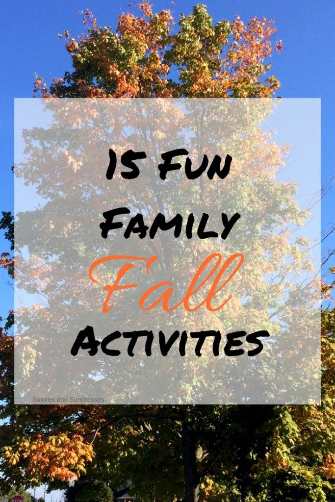 Smores and Sundresses - 15 Fun Family Fall Activities #family #fall #activities http://www.smoresandsundresses.ca/15-fun-family-fall-activities-2/