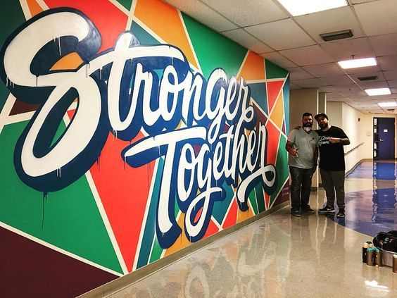 94 best murals images on pinterest office designs for Mural lettering