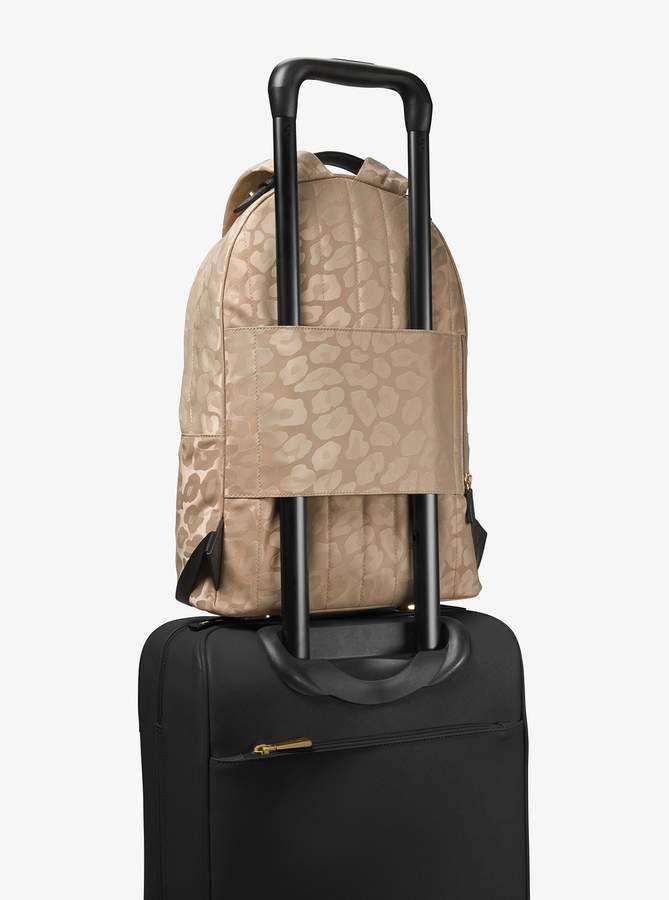 3fda74f791a62a Michael Michael Kors Kelsey Large Leopard Nylon Backpack | DEALS ON ...
