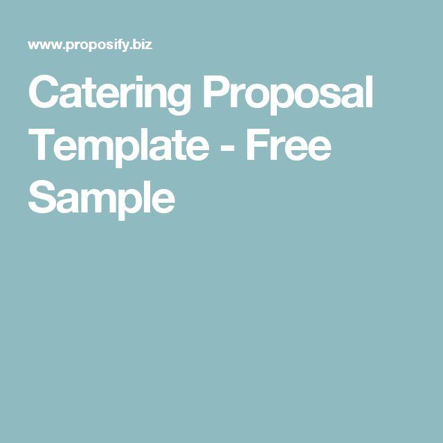 Более 25 лучших идей на тему «Proposal sample» на Pinterest - sample catering proposal template