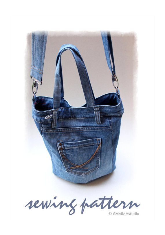 Sewing Denim Bag PATTERN e079005a0c35a