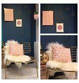 Bloomingville kussen roze met gouden stippen, Bloomingville 73300000