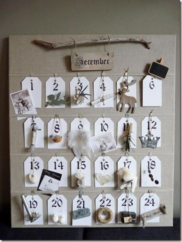 Advent Calendar with natural elements