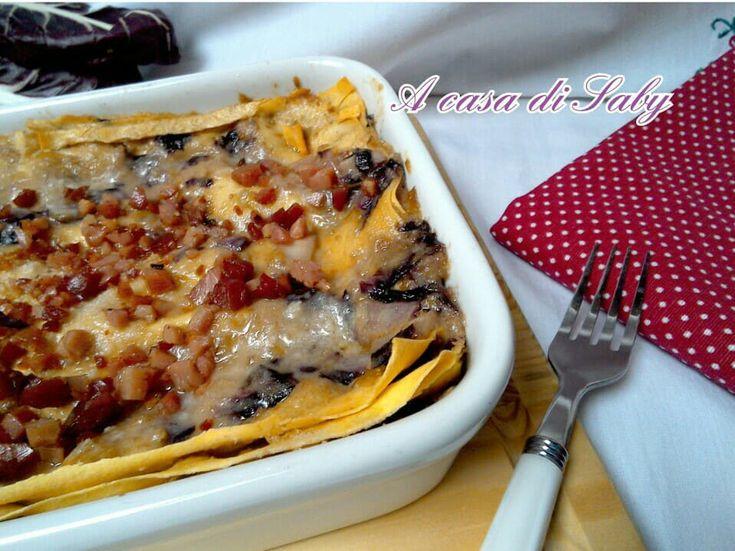 Una golosa versione di lasagne al radicchio e noci che vi stupirà!