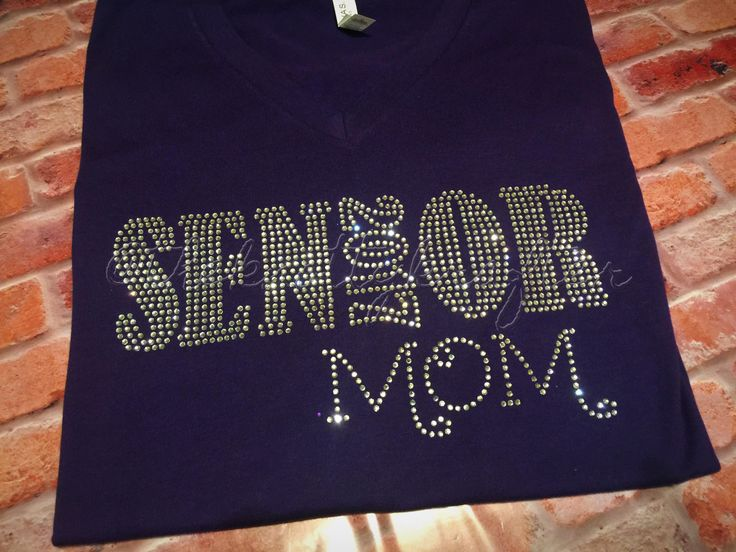 "Senior, ""Senior Mom"" T-shirt, Graduation, Graduate Mom, Diva, Bling, Class of 2017, Rhinestone, Accomplished, Academic, Achieved, Proud by TheKnottyKrafter on Etsy"