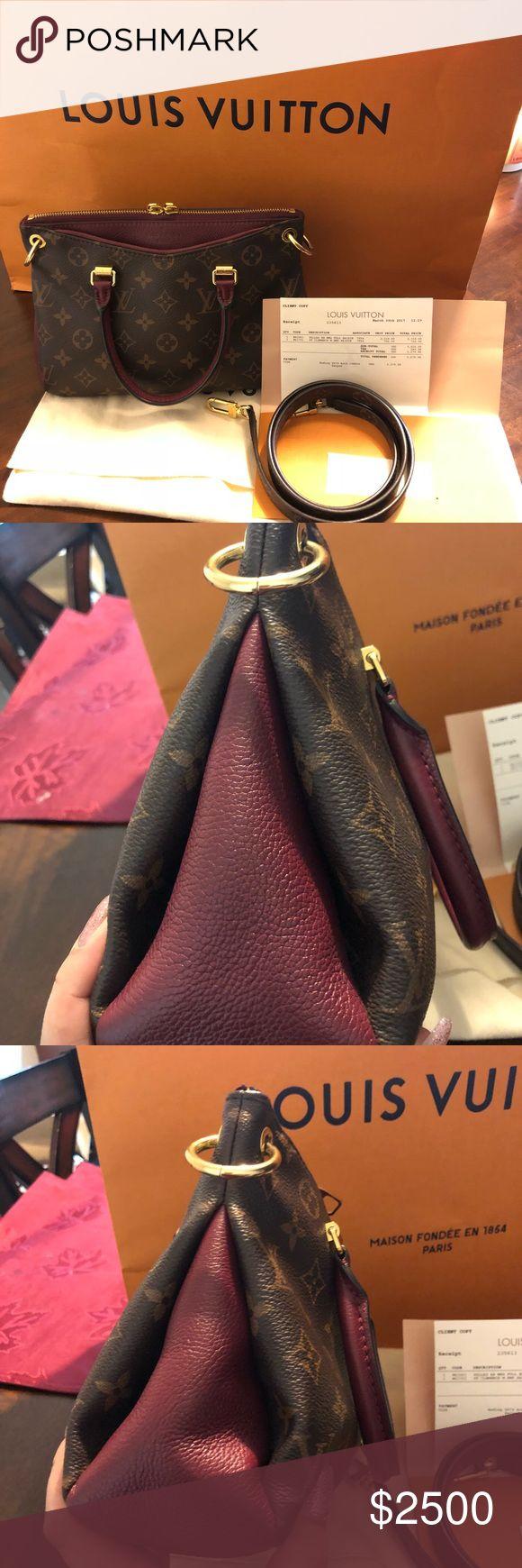 Authentic Louis Vuitton Pallas BB Full Raisin Absolutely gorgeous bag!! Hate to get rid of, but I'm ready for something else lol  This color is hard to find & always SOLD OUT!  Very minimal wear, still looks new!  Strap is brand new! Had it replaced 3 months ago. Datecode: SD4196 Comes with dust bag & receipt (copy)  Only interested in trading for LV bag Priced high due to Poshmark fees Louis Vuitton Bags Crossbody Bags
