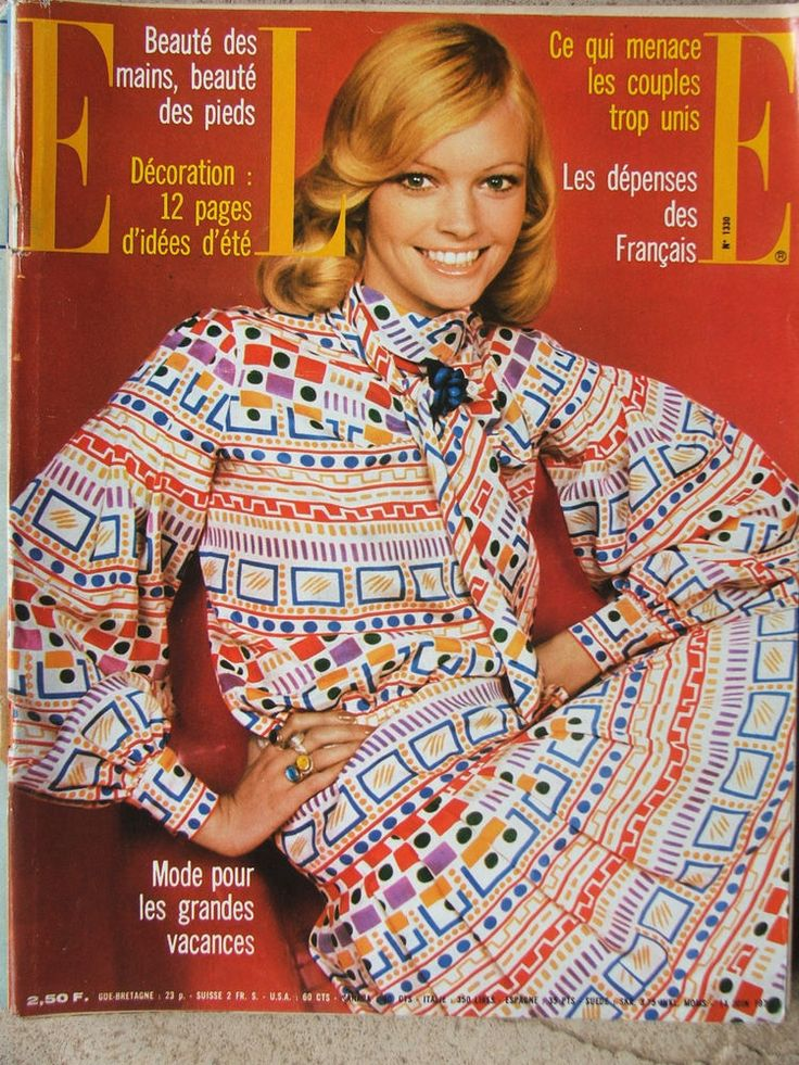ELLE n°1330 (14 juin 1971) Mode pour les grandes vacances - Claudine Auger -