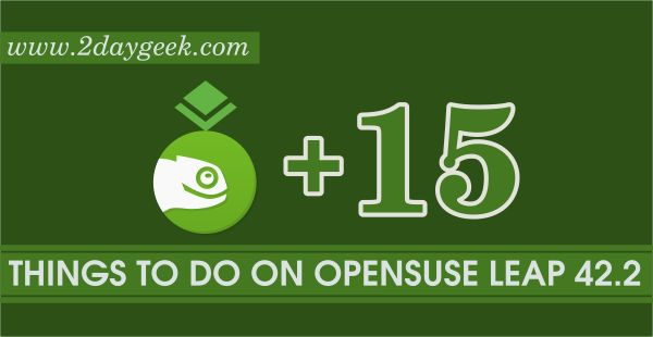 Do you have fresh installation of openSUSE Leap 42.2 ? follow our article for tweaks.