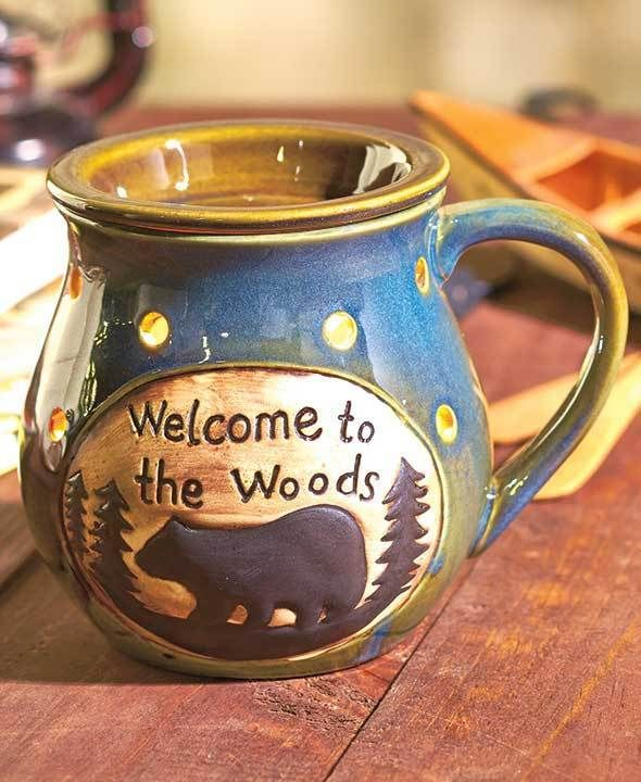 Candle Warmer Electric Burners : WELCOME TO THE WOODS BEAR Wax Tart Warmer #TBD