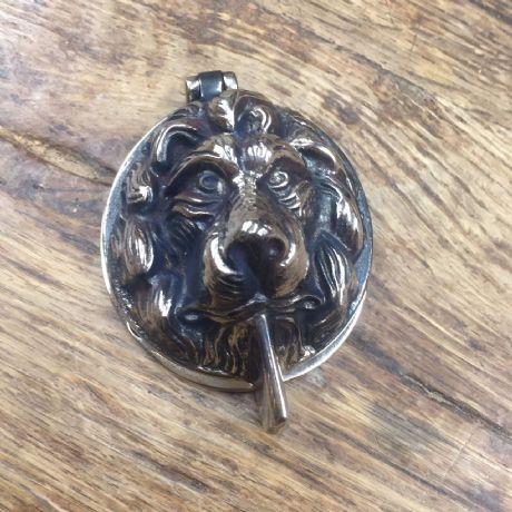 Antique Nickel Lions Head Front Door Yale Lock Cover