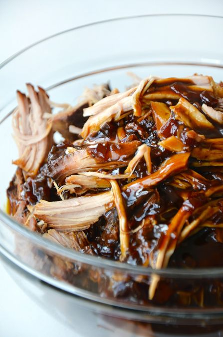 Slow Cooker Balsamic Honey Pulled Pork by justataste #Pork #Pulled_Pork #Balsmaic #Honey #Slow_Cooker #Easy