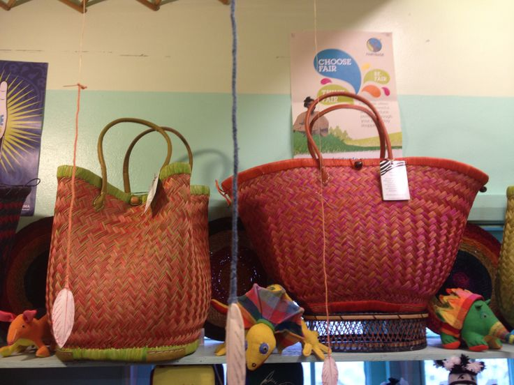 Fairtrade - Raffia baskets from Madagascar.  The style is called 'clover' and they are so beautiful!