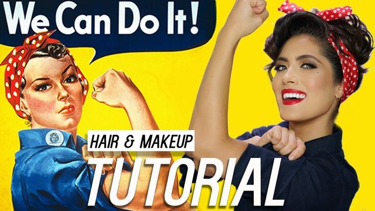 Rosie the Riveter Hair and Makeup Tutorial | Melissa Alatorre - YouTube