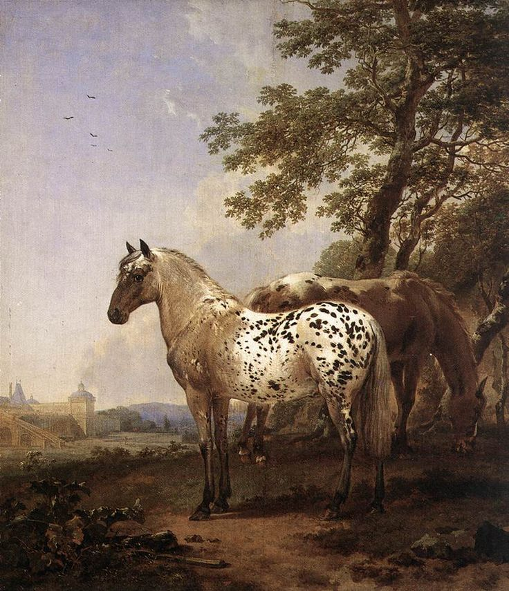 Nicolaes Berchem - Landscape with Two Horses