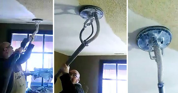 Amazing He Wanted To Remove Popcorn Ceilings In His Home. He Removed It In Minutes  With THIS! | Popcorn Ceiling Removal, Popcorn And Ceilings