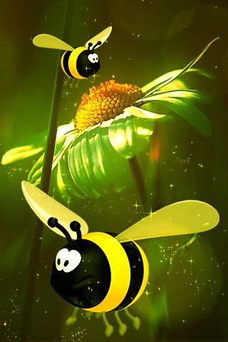 ❤️ JUST CUTE!!!❤️ BUMBLE BEE GIF