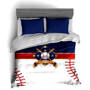 I Love Baseball, Baseball Bedding, Duvet or Comforter Sets for Baseball Theme Bedroom - 2cooldesigns