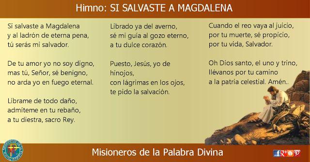 MISIONEROS DE LA PALABRA DIVINA: HIMNO LAUDES - SI SALVASTE A MAGDALENA