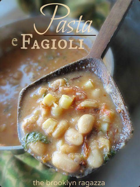 The Brooklyn Ragazza: Donnamarie's Pasta e Fagioli (Utica-Style)