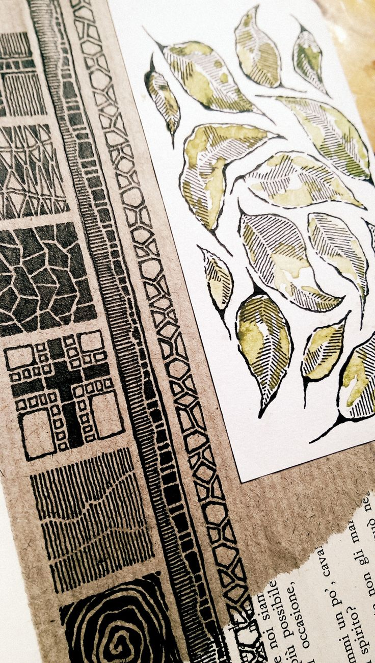Art sketchbok - Page idea foe my next project (I'm loving the leaves!) ___ Moleskine 03, #080 Rebecca Blair