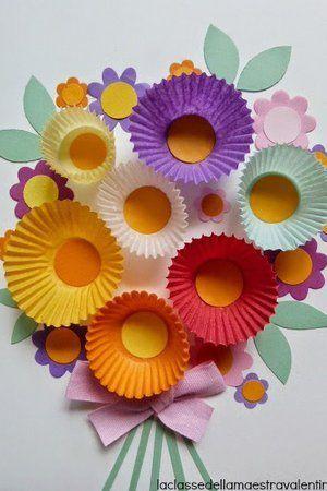 Un bouquet de fleurs en papier : DIY : 10 idées créatives pour la fête des mères - Journal des Femmes