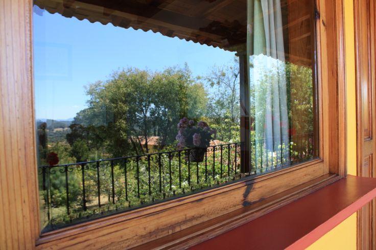 Vista desde la ventana de su habitación en Hotel Huerta Real, Mazamitla