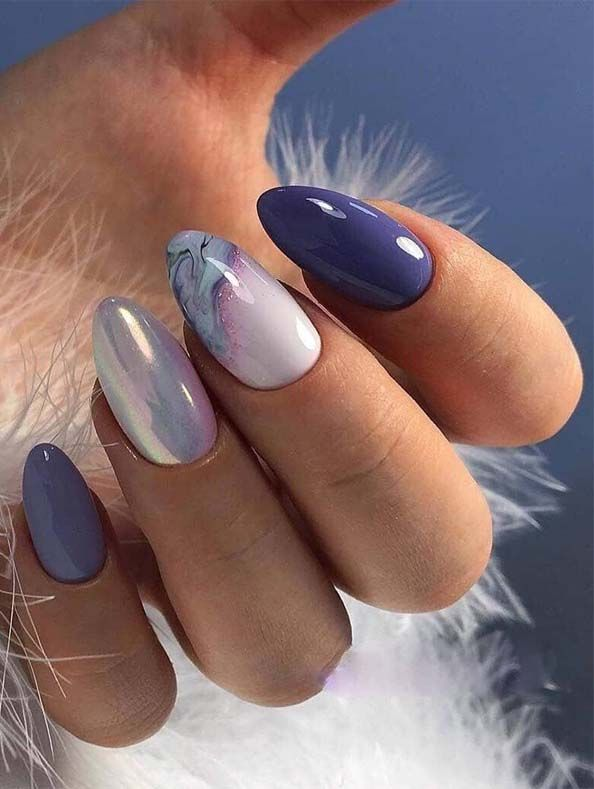 Beautiful Blue Summer Nail Arts Designs For 2019 Gel Nail Art