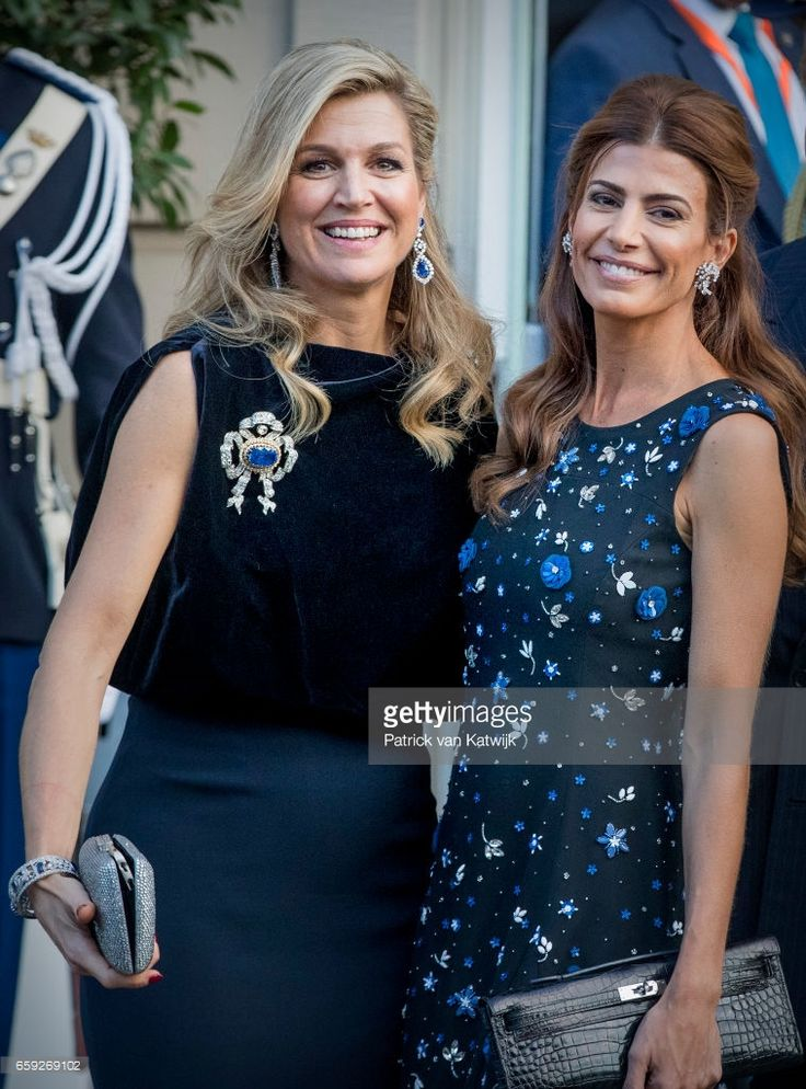 News Photo : Juliana Awada say goodbye to Queen Maxima of The...
