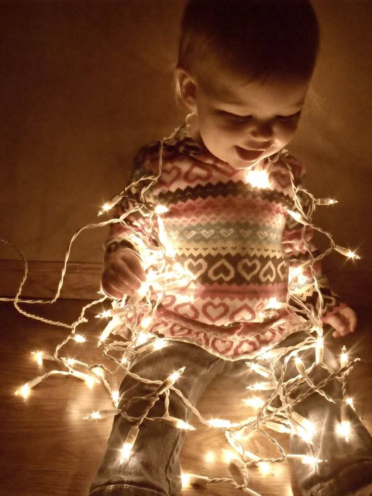 Christmas lights for pictures!