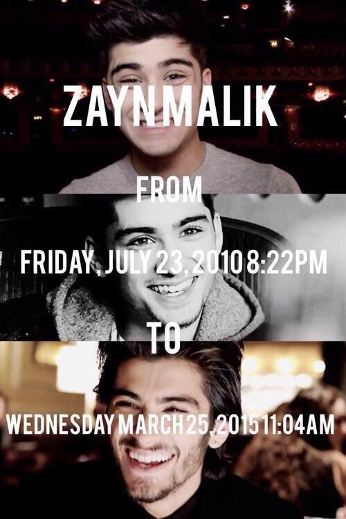 We will never forget you all the happiness you brought 1 year since zayn left one direction