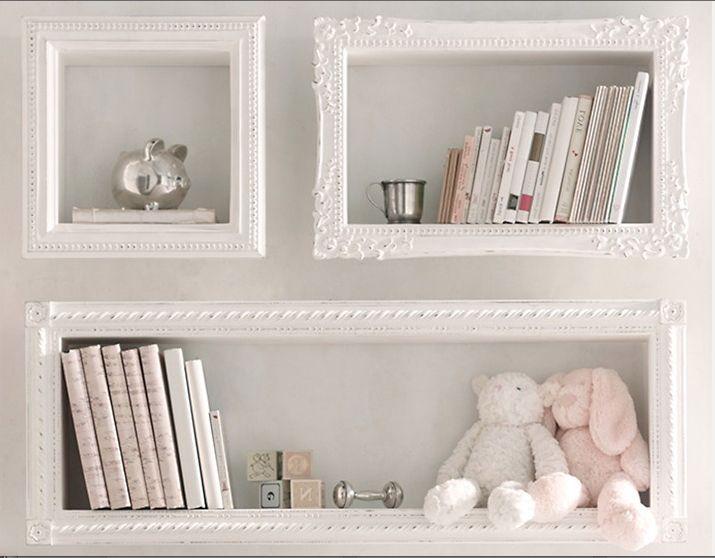 Image result for framed shelves