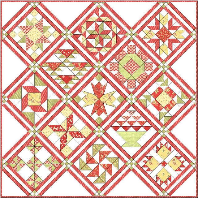 Block Of The Month Quilt Patternsee Quilt Extravaganzablock Of