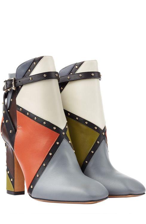 designer: valentino details here: dotcom colorblock bootie