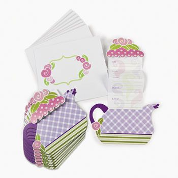 Tea Party Invitations (12).  These lovely Tea Party Invites will set the scene for your next themed party!  set of 12 invitations (12.7cm)  & envelopes