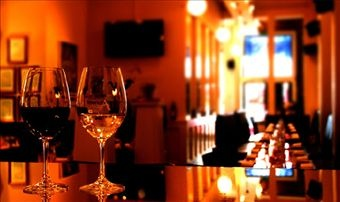 Delicious food and huge wine list