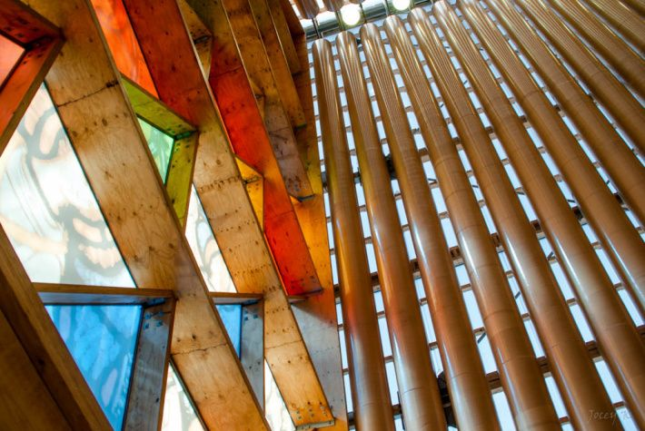 The Cardboard Cathedral | Shigeru Ban | Junkitechture