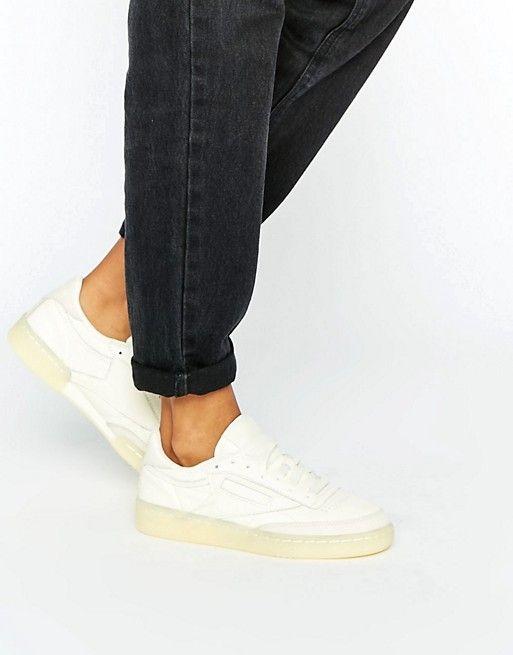 Reebok | Кожаные кроссовки на резиновой подошве Reebok Club C