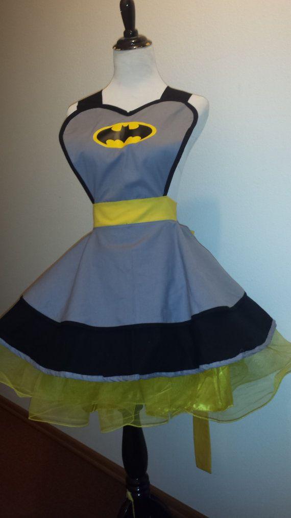 Bat SuperHero Cosplay Retro Pin Up Apron by PandorasProductions