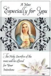 Mass Card - Sacred Heart of Mary.