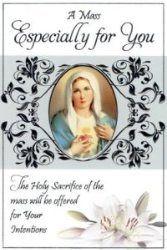 Mass Card - Sacred Heart of Mary.