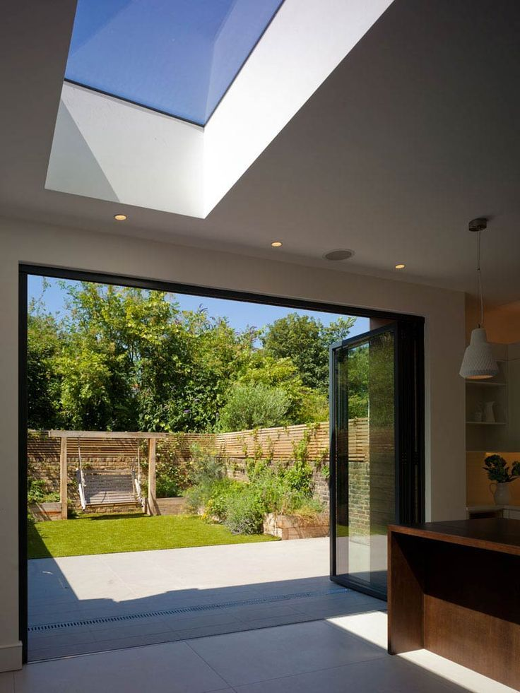Bi-fold doors and garden