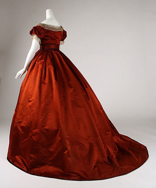 Dress with day and evening bodices, ca. 1867; MMA C.I.37.46.37a-d
