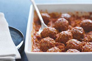 Instant rice replaces the breadcrumbs in these meatballs.